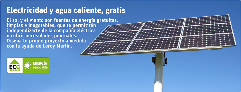 Gu a de energ as renovables de leroy merlin for Guia pasacables leroy merlin