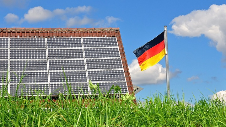 Bandera alemana panel solar